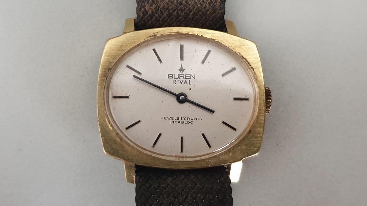 Buren Rival horloge glas