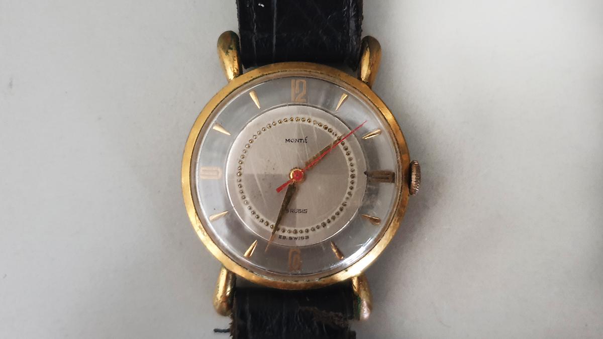 Monté horloge glas