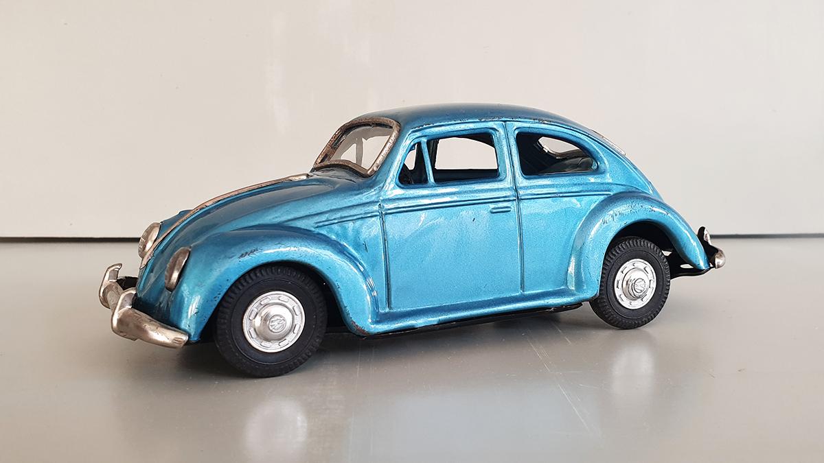Volkswagen auto schuin