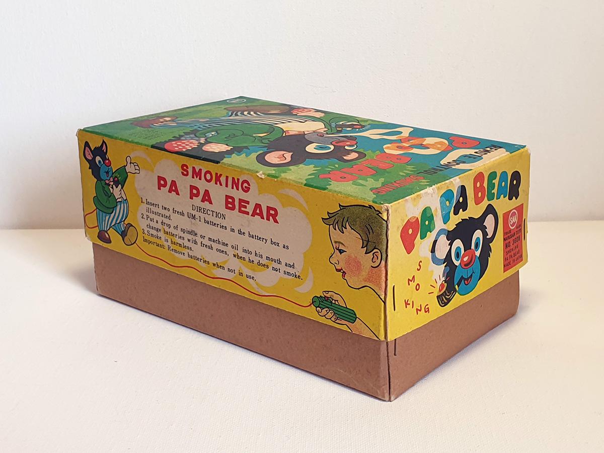 Marusan Papa Smoking Bear box side 2