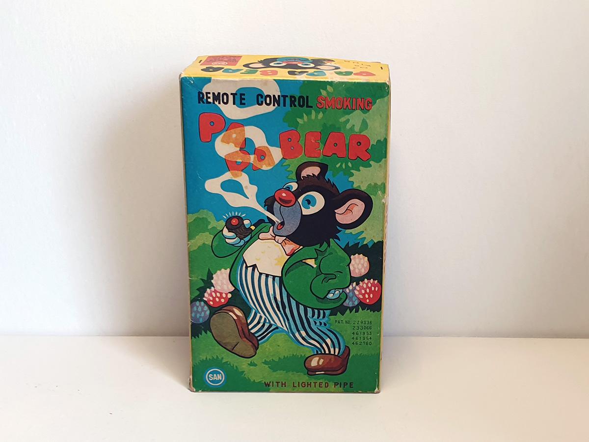 Marusan Papa Smoking Bear box