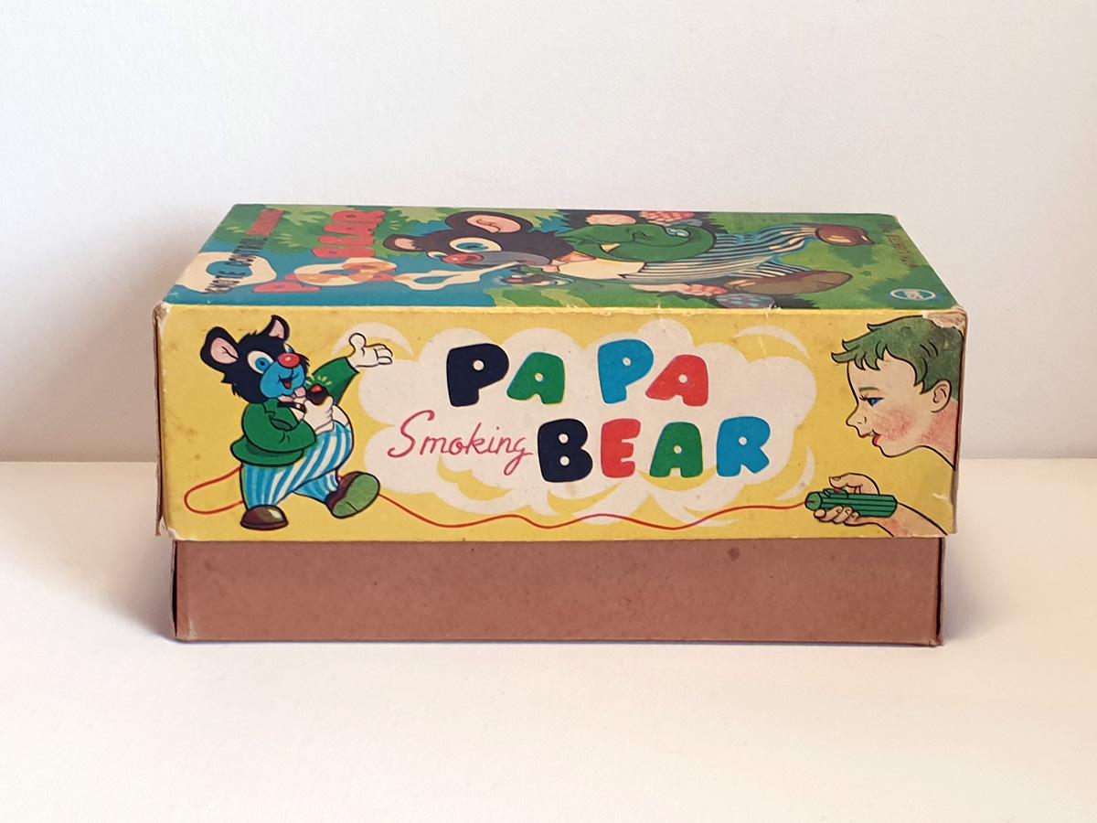 Marusan Papa Smoking Bear box side 1