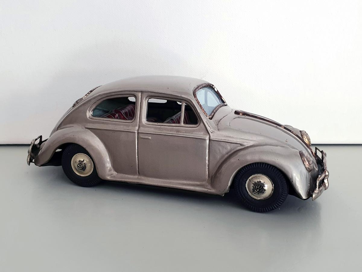 Bandai Volkswagen auto goud side