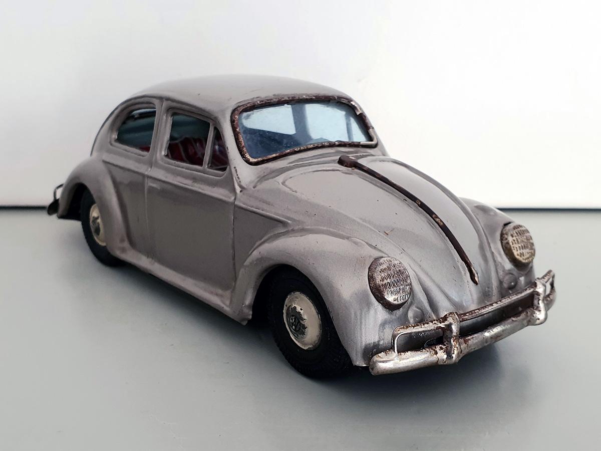 Bandai Volkswagen auto goud front