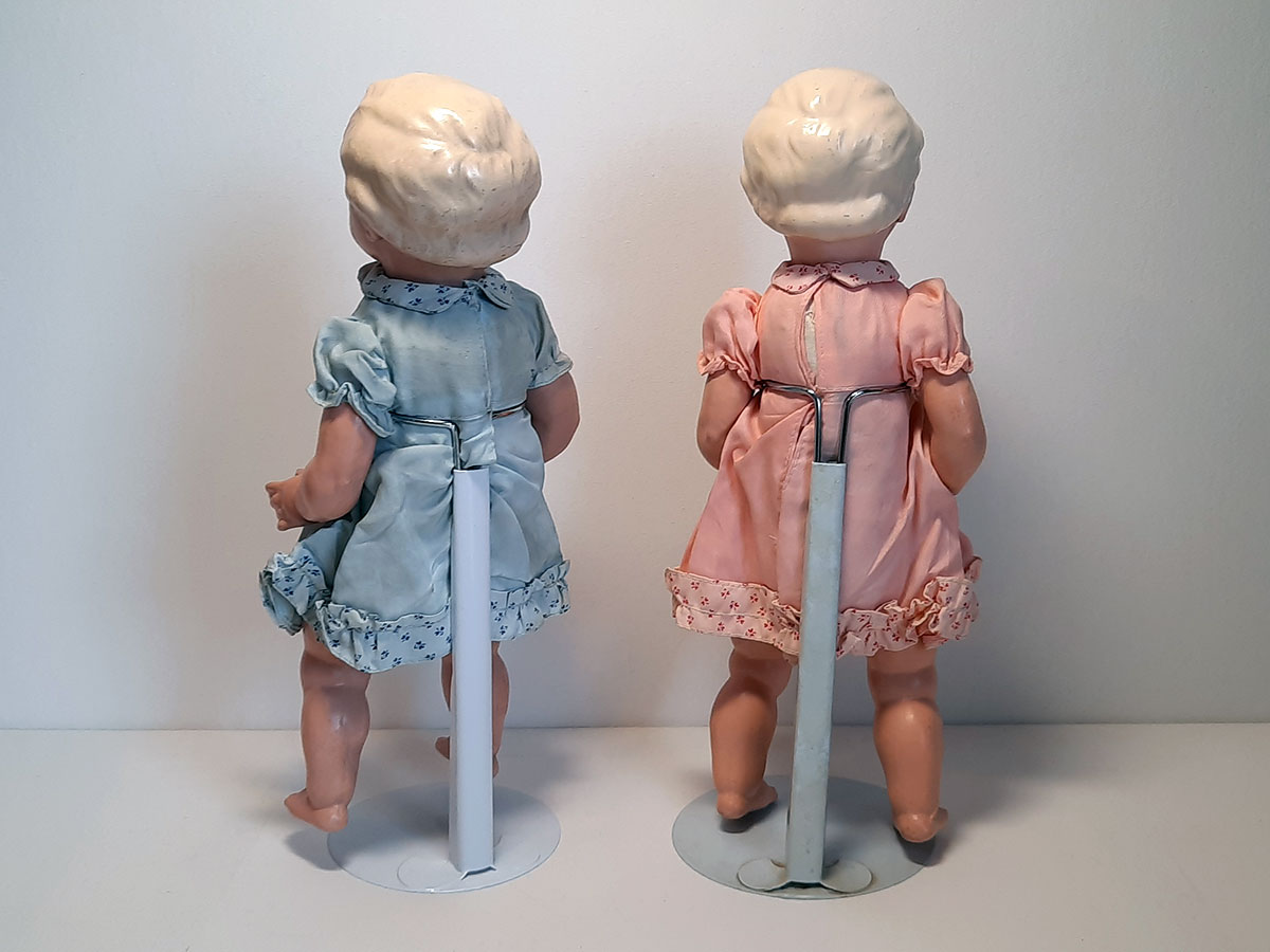 Gespoten porseleinen poppen Duitsland back