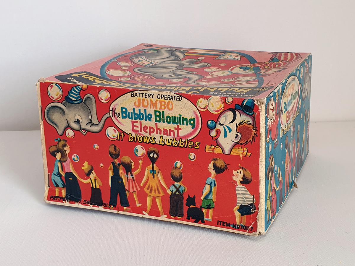 Jumbo The Bubble Blowing Elephant box side 3