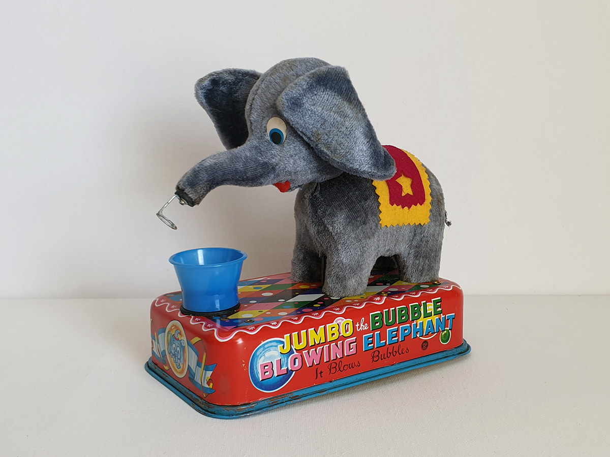 Jumbo The Bubble Blowing Elephant side 1