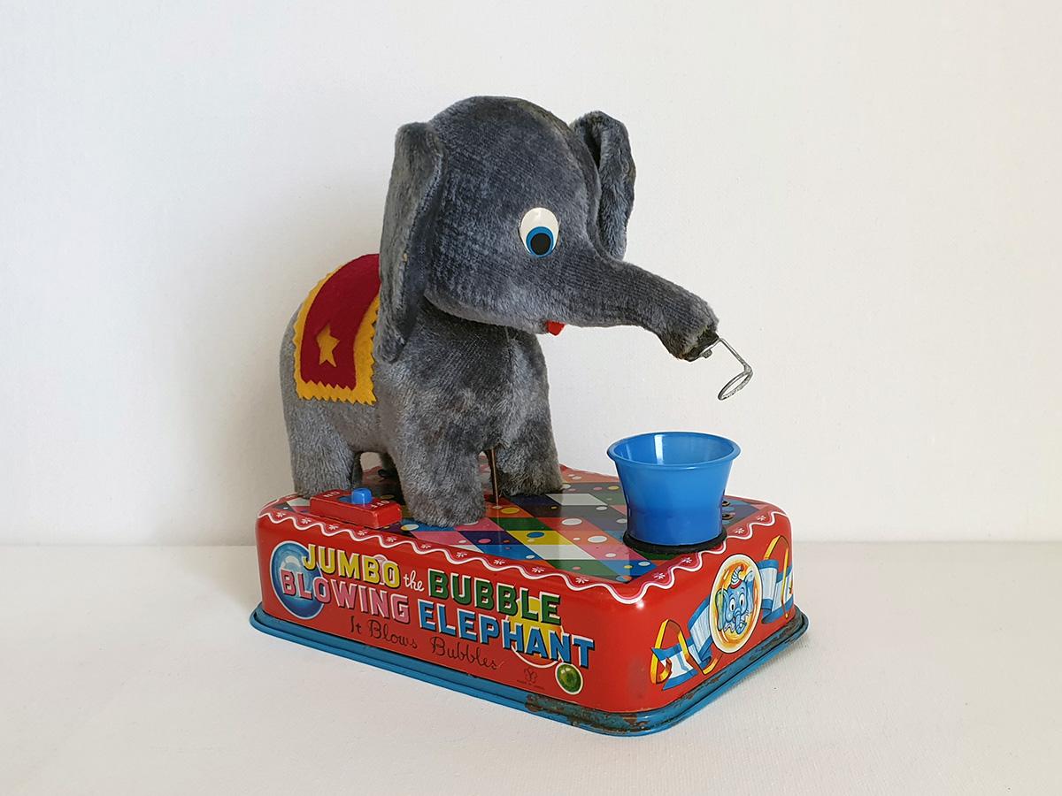 Jumbo The Bubble Blowing Elephant side 2