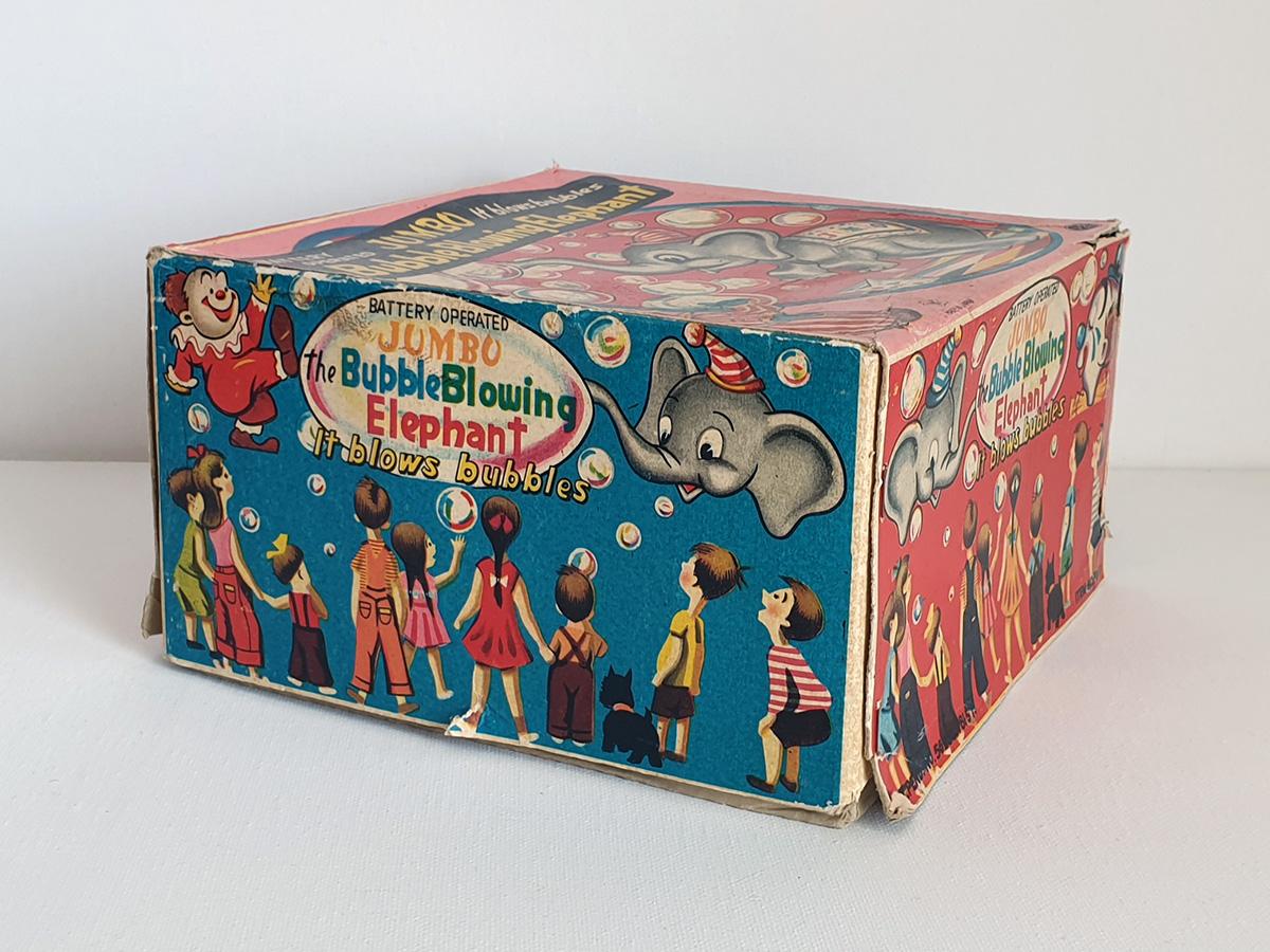Jumbo The Bubble Blowing Elephant box side 2