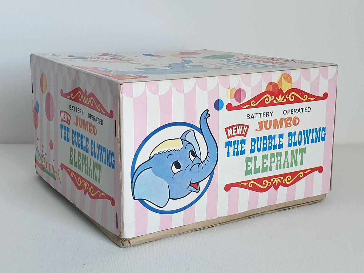 Yonezawa Jumbo the Bubble Blowing Elephant box side 2