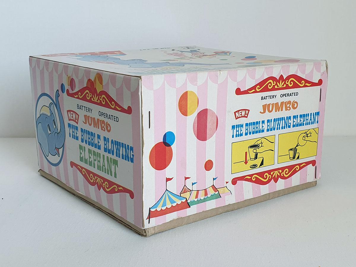 Yonezawa Jumbo the Bubble Blowing Elephant box side 3