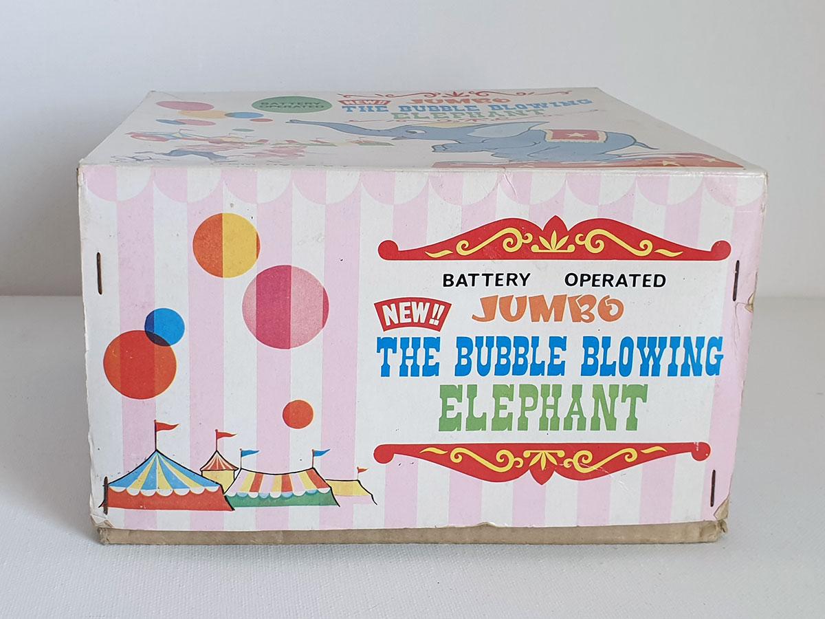 Yonezawa Jumbo the Bubble Blowing Elephant box side 1