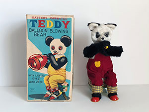 Alps Teddy Balloon Blowing Bear thumbnail