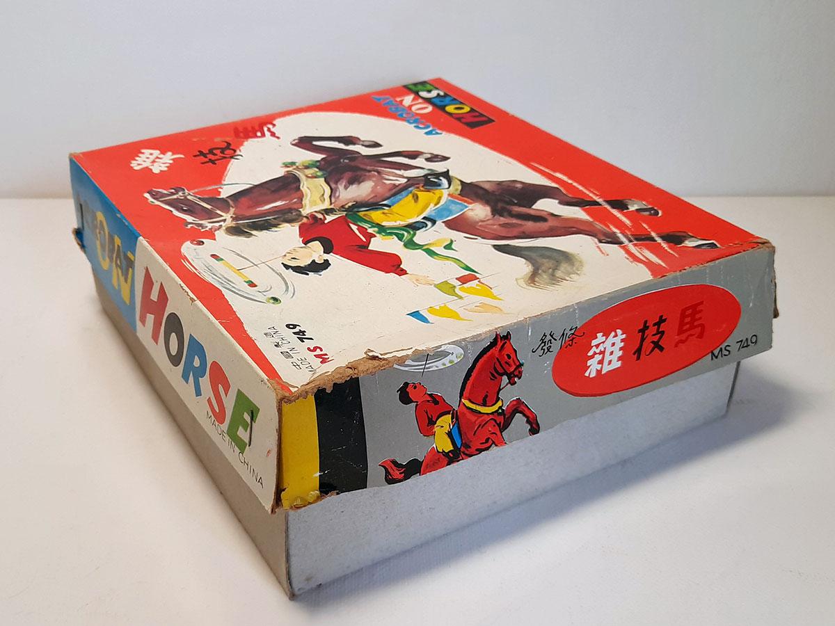 Acrobat on Horse MS 749 China box side 2