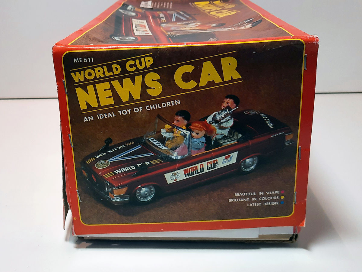 World Cup News Car ME 611 China box side 2